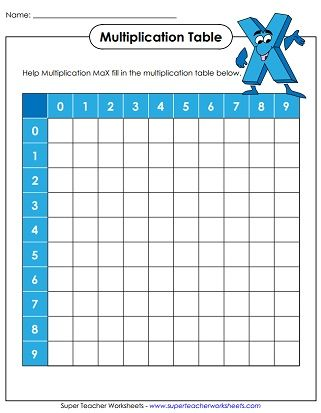 The 25+ best Multiplication table printable ideas on Pinterest - multiplication table