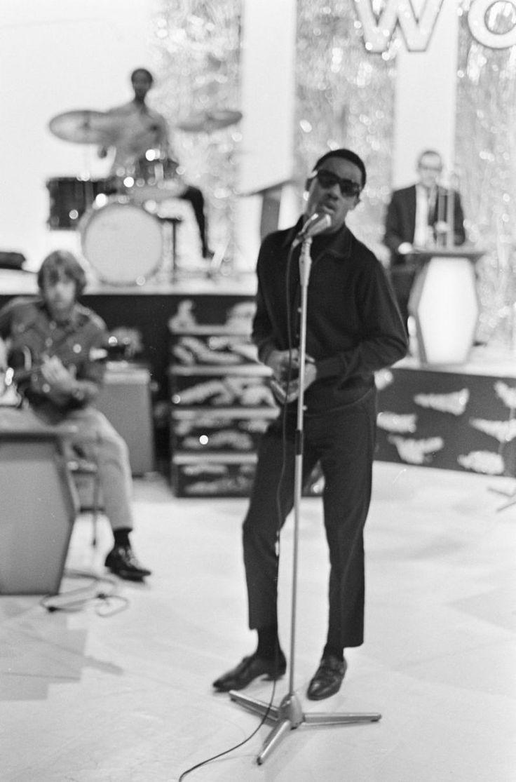 Stevie Wonder during rehearsal for...