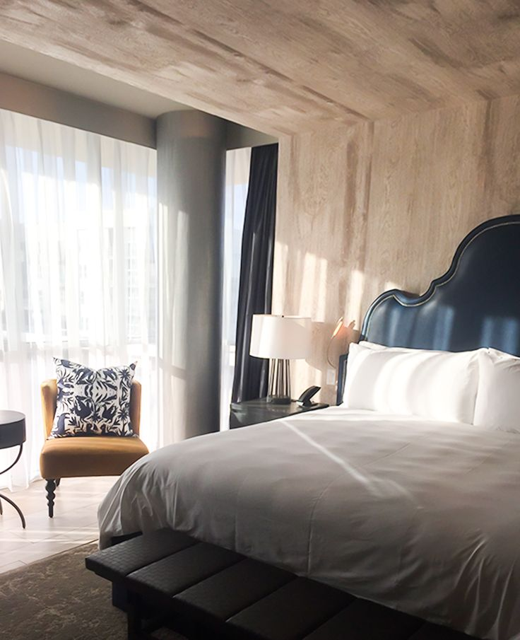 Our pillow in the King Suite of the Archer Hotel located in Austin, Texas