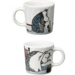 Arabia Moomin Decorative Mini Mugs 4 set, Hibernation, Winter Seasonal 2015, PRE ORDER
