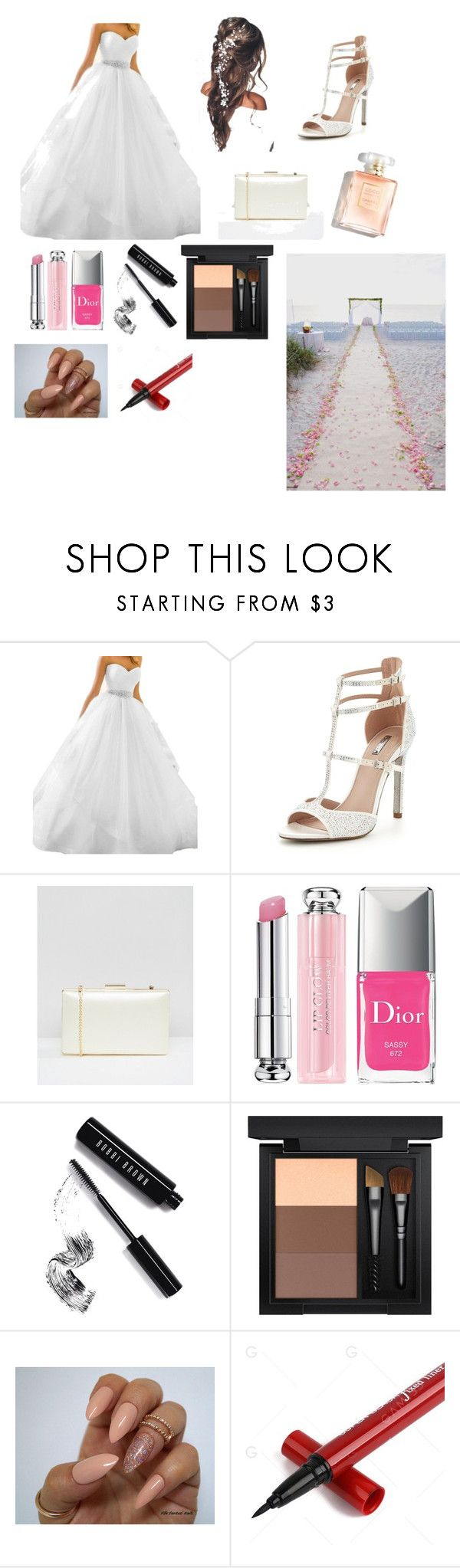 """""""wedding combination"""" by fkahveci ❤ liked on Polyvore featuring Carvela, ASOS, Christian Dior, Bobbi Brown Cosmetics and MAC Cosmetics"""