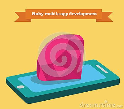 Ruby Mobile Application Development Vector Illustration - Download From Over 42 Million High Quality Stock Photos, Images, Vectors. Sign up for FREE today. Image: 58721120