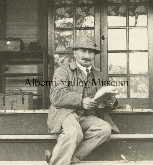 Photographer Leonard Frank was active in the Alberni Valley c1898 to 1916.  [Alberni Valley Museum Photograph PN07223]