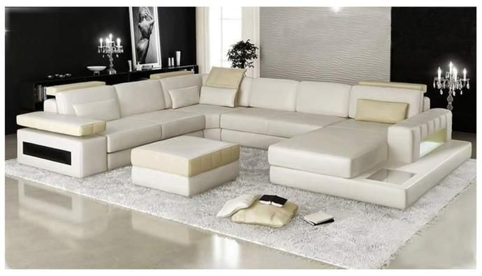 Mantua U Shape Leather Lounge With Chaise To Review Furniture