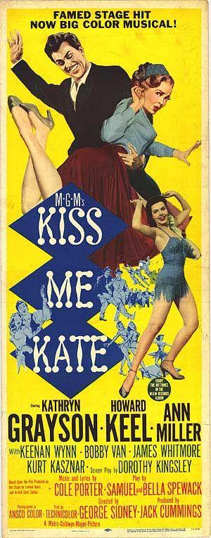 """KISS ME KATE"".(1953) KATHRYN GRAYSON, HOWARD KEEL, ANN MILLER"