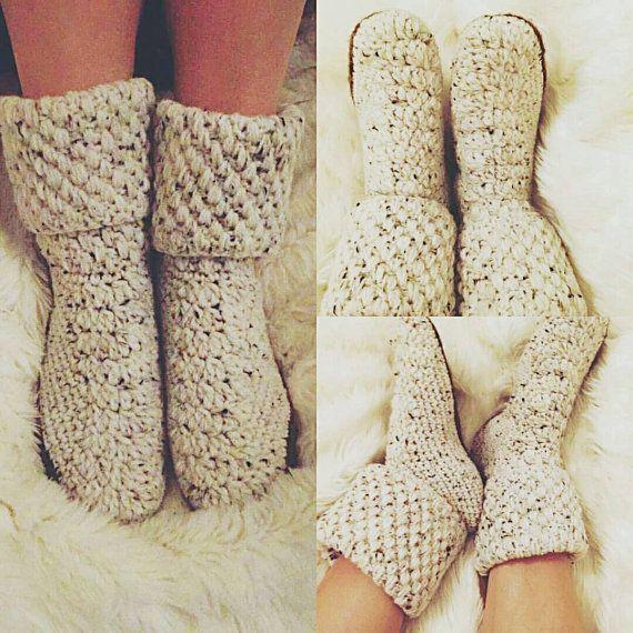 Crochet Slippers Socks House Slippers Socks Handmade by SevRKekesi