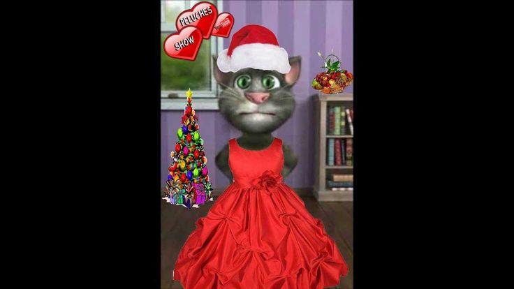 Llega la Navidad / Con sabor de mazapán,/  De turrón, de mieles y de paz. / Vamos a celebrar/  La familia en el hogar / Nuestra noche buena una vez más;/ Con nueces, peladillas y un poquito de Champagne;/  Cantando una canción/ que diga con mucha humildad/  Que aquí este humilde gato pide a la humanidad / ¡¡ Que reine la paz !!