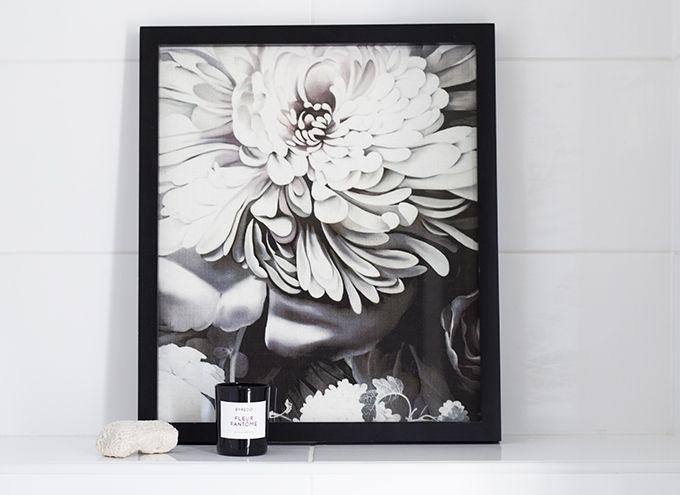 DIY framed art from Ellie Cashmn floral fabric via Coffee Table Diary
