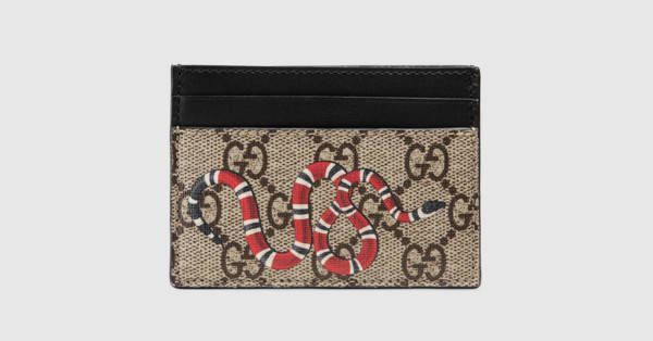 56dc875bc32882 Kingsnake print GG Supreme card case | materialistic needs :D | Card ...