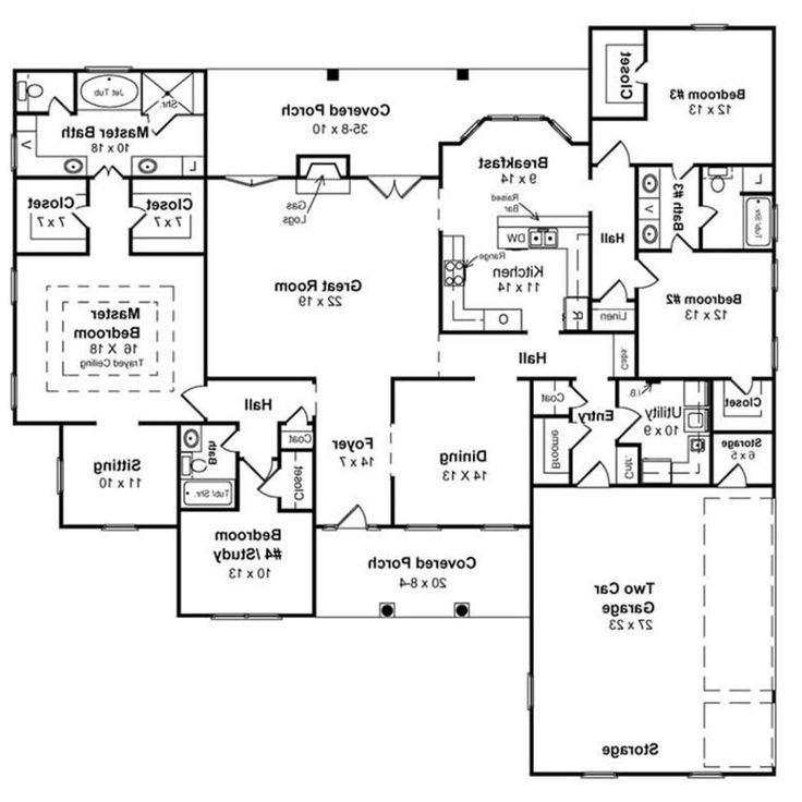 Floor Plans Ranch Homes Walkout Basement