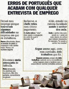 Erros de português em uma Entrevista de Emprego