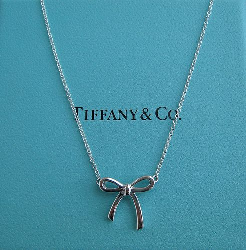 tiffany bow necklace