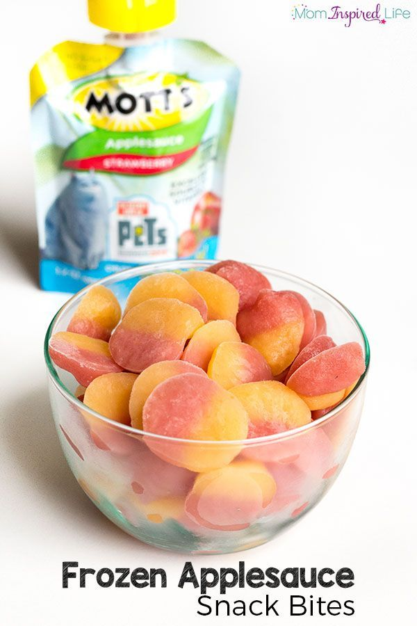 This Frozen Applesauce Snack Is Super Easy To Make And Tastes So Good Your Kids Healthy