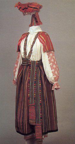 Тульская губерния | Праздничный девичий костюм. Вторая половина XIX в. Тульская…