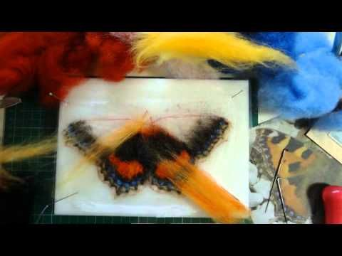 Needle Felting a Small Tortoiseshell Butterfly by Sophie Buckley (Making Needle Felted Animals) - YouTube