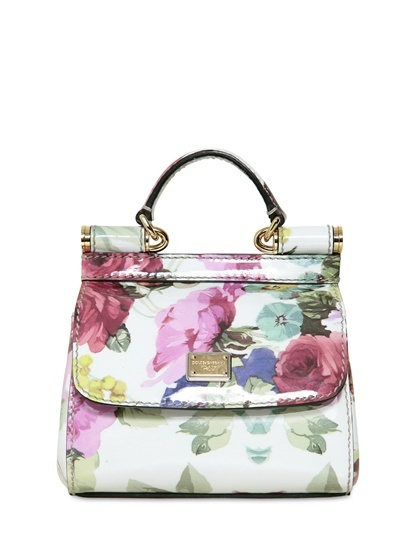 Dolce Gabbana Patent Micro Miss Sicily Top Handle - Spring Womens Summer Bag & Clothing