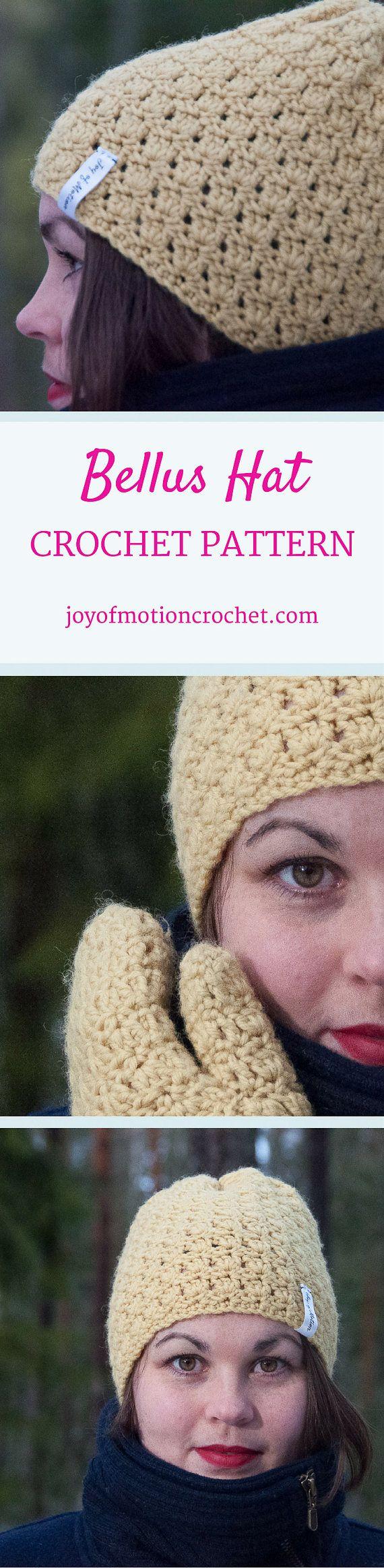 CROCHET PATTERN - Bellus Hat Crochet Pattern - PDF Crochet Pattern from joyofmotion on Etsy Studio