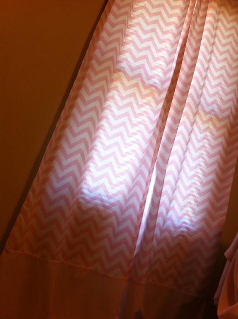 The Life Of Faith: Pink Chevron Nursery Curtains