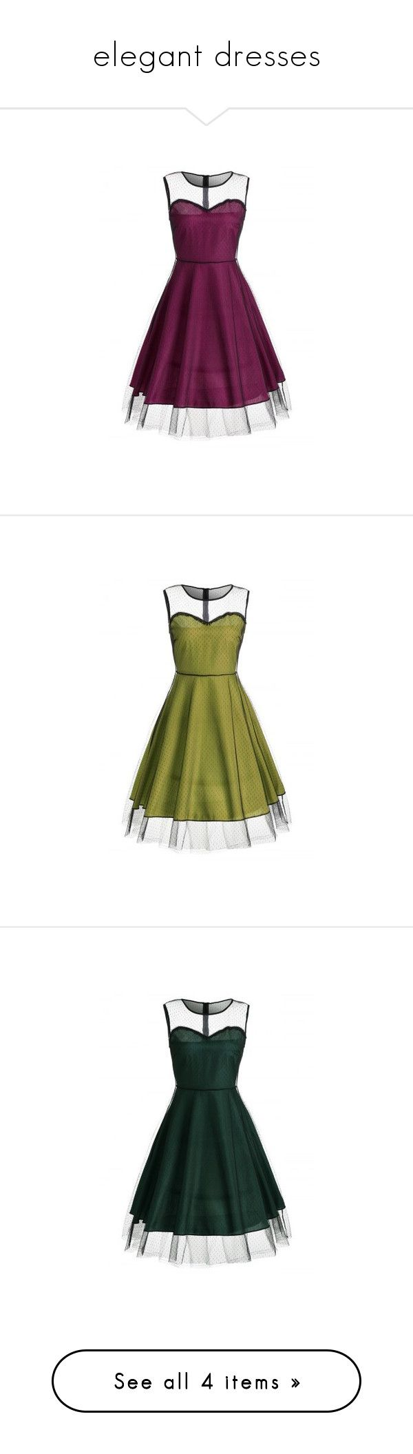 """""""elegant dresses"""" by rousou ❤ liked on Polyvore featuring dresses"""