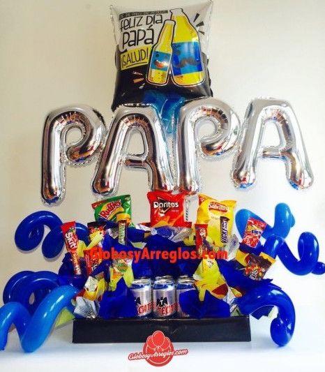 Arreglo de papá, Arreglo de globos para dia de padre, Detalle para cumpleaños papá, Arreglo de globos para sorprender a mi papá, Arreglo de globos monterrey