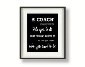 Coach gifts Thank you Coach Coach Quotes by BucketListShop