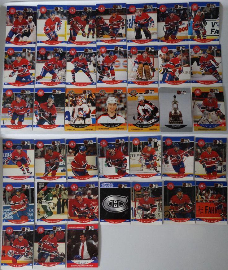 199091 pro set montreal canadiens team set 38 hockey