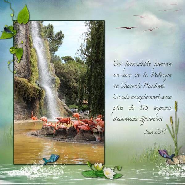 """Kit """"Along the waterside"""" de Lilas  Photo muse1617 prise au zoo de La Palmyre en Charente-Maritime"""