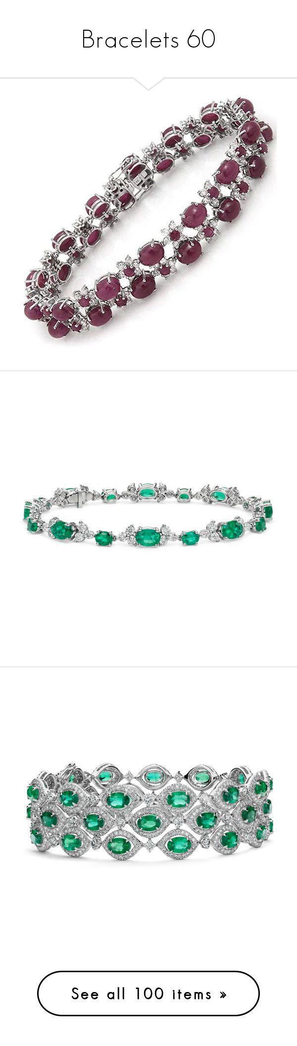 """Bracelets 60"" by singlemom ❤ liked on Polyvore featuring jewelry, bracelets, gold diamond jewelry, diamond bangles, 14k yellow gold jewelry, ruby bangles, yellow gold jewelry, rannekorut, necklaces and emerald jewellery"