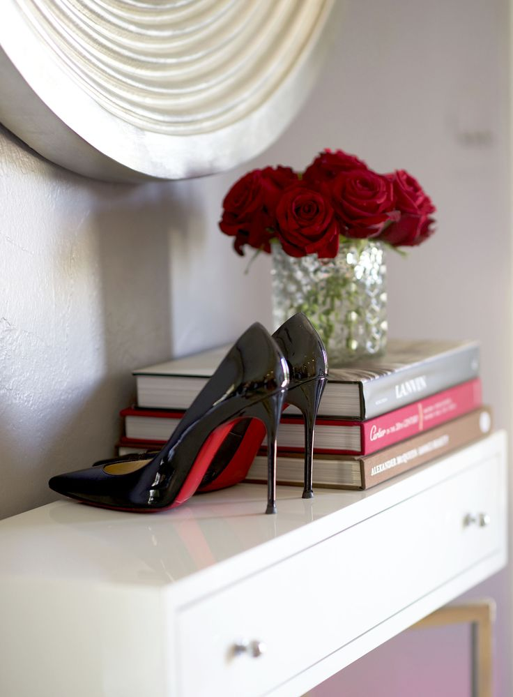 How to score designer items on sale - black louboutins and roses