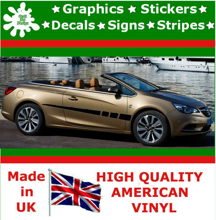 "10"" High Car Side Stripes Graphic Decal Vinyl Stickers Van Auto Rally Race F1_33"