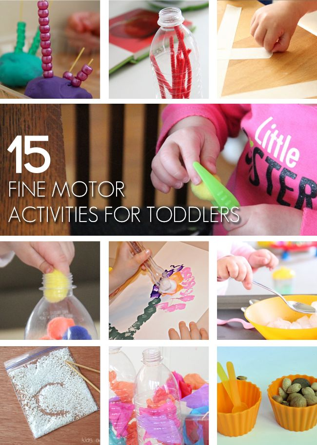 15 {Fun} Fine Motor Activities for Toddlers-great ideas for stuff already at home