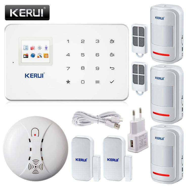 best price kerui g18 englishrussian voice gsm alarm autodial home security and fire protection alarm #security #doors