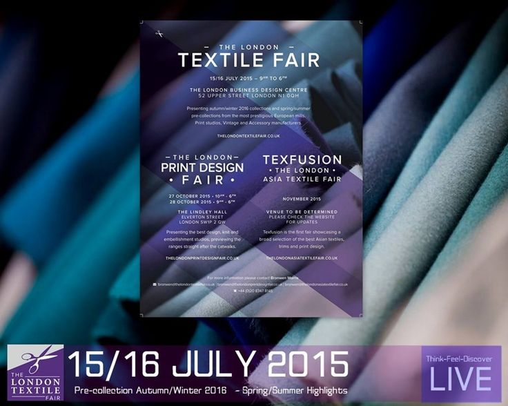 Think-Feel-Discover -LIVE-   Created  by Chrysanthi Kosmatou  Photo rights : The London Textile Fair