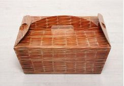 Picnic Box Company - How about an individual picnic box for each person with sandwiches, crisps and a little pie or something, then a cake stand on each table with sweet goodies?