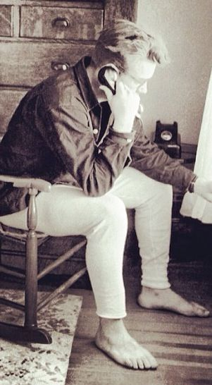 James Dean on the phone in Fairmount Indiana during his last visit to his aunt and uncles family farm.