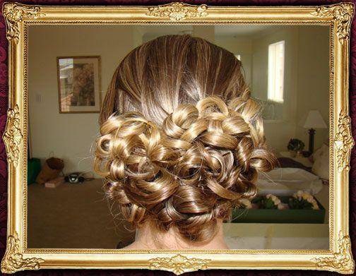 Wedding hair up-style