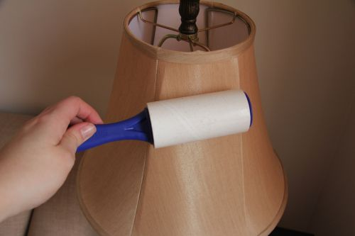 5 Spring Cleaning Hacks that Actually Work - Dust your lampshade with a lint roller