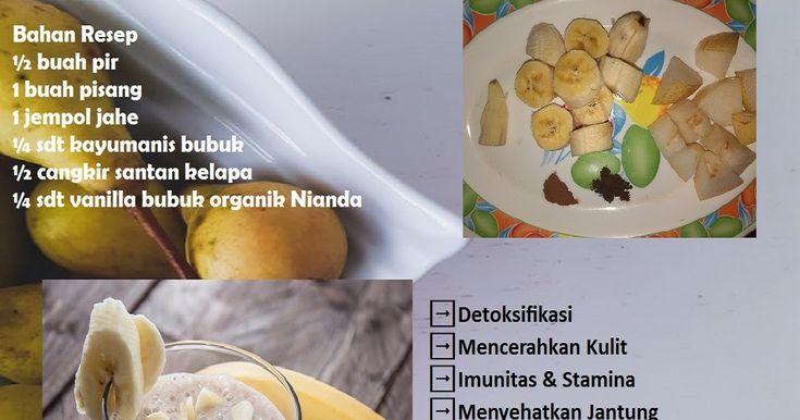 Smoothies Diet Buah Pisang Pear Resep Diet Pir Diet
