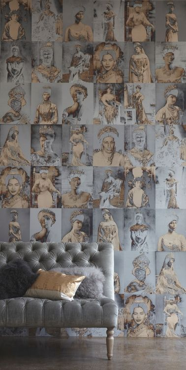 Distinctive and mixed-media wallpapers designed by Trove, New York