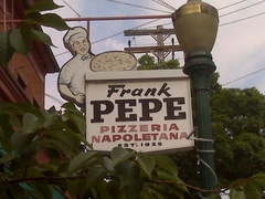 Pepe's pizza..New Haven,CT.  Hands down best pizza ever.