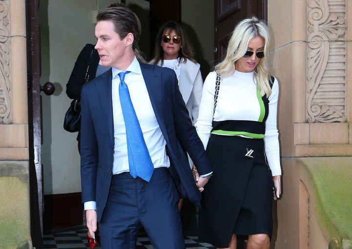 Public relations mogul Roxy Jacenko's husband, Oliver Curtis, is facing up to five years behind bars after a Supreme Court jury found him guilty of conspiring to commit insider trading on Thursday. #publicrelationsoutfit