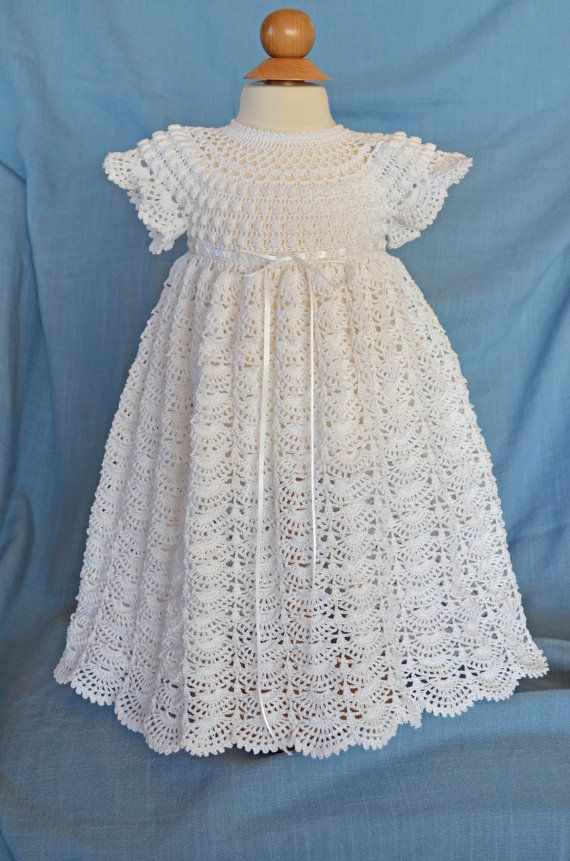 White Christening / Blessing Gown - Baby Dress -
