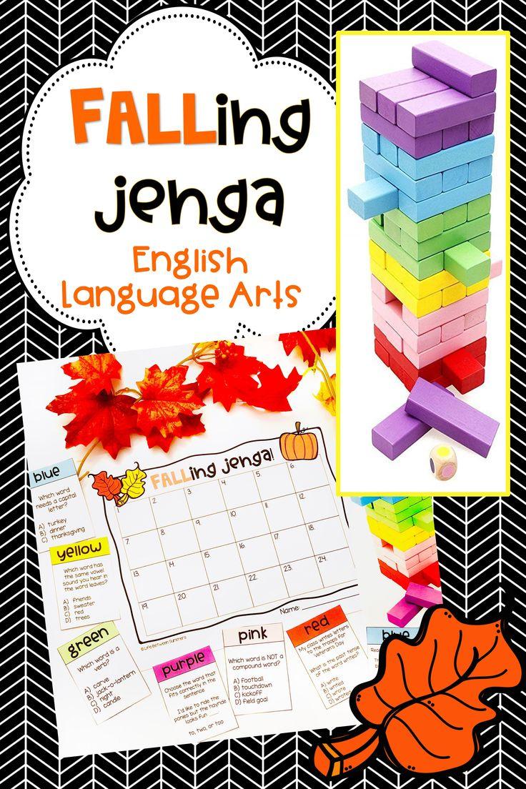 Jenga Game Cards Engaging Math & Literacy Center