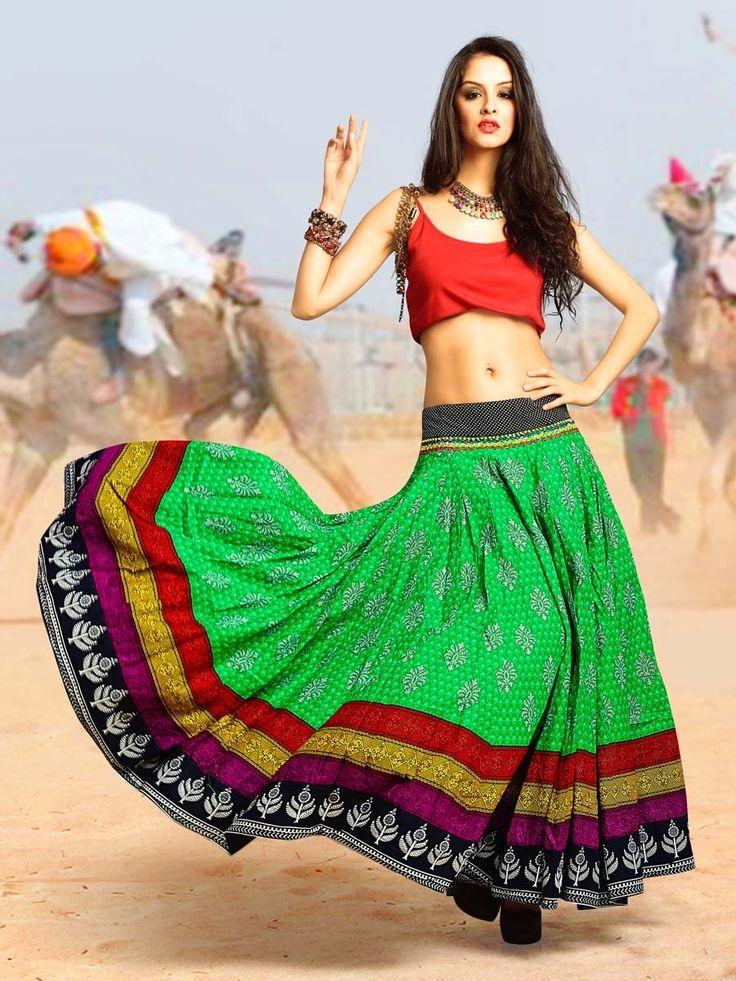 Impressive light green color block print cotton Skirt.  Item Code : SKPG293771G http://www.bharatplaza.com/new-arrivals/skirts/impressive-light-green-skirt-skpg293771g.html