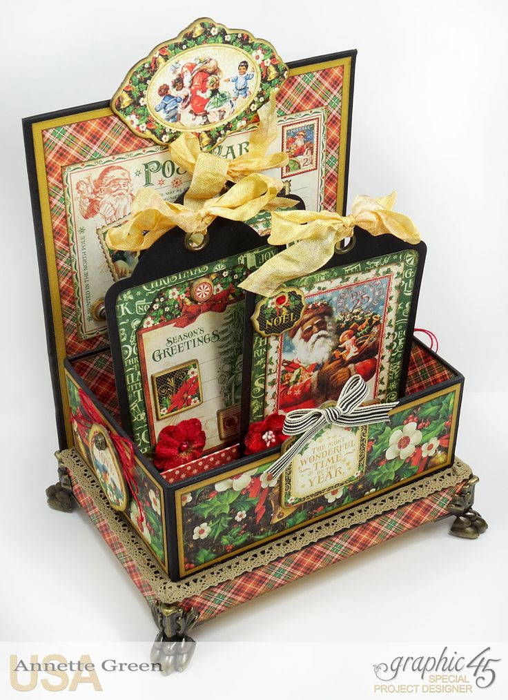Christmas Box with St Nicholas by Graphic 45 Taught by Annette Green October 9, 2016 at Betty's Creative Studio
