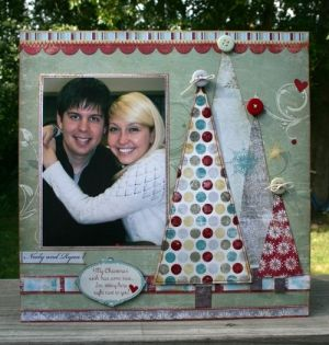 Christmas scrapbook layouts by frieda