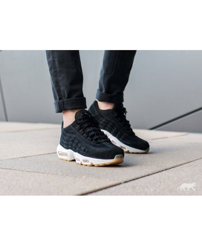 new concept 77d87 9ece2 Nike Air Max 95 Premium Black White Trainers