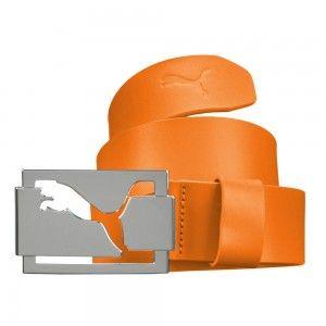 Puma Golf High Shine Belt - Vibrant Orange