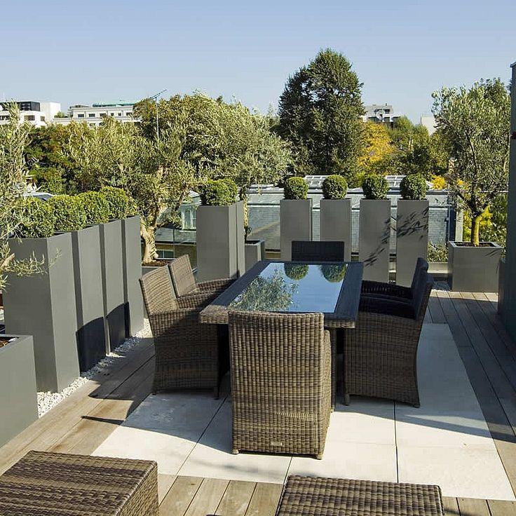 Roof Terrace Garden Design: Rooftop Terrace Garden Architecture