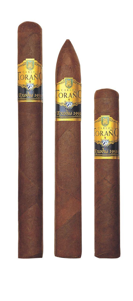 Share Carlos Torano Exodus 1959 Cuban Press Torpedo Cigars - Box of 24 Online. Free Shipping over $199